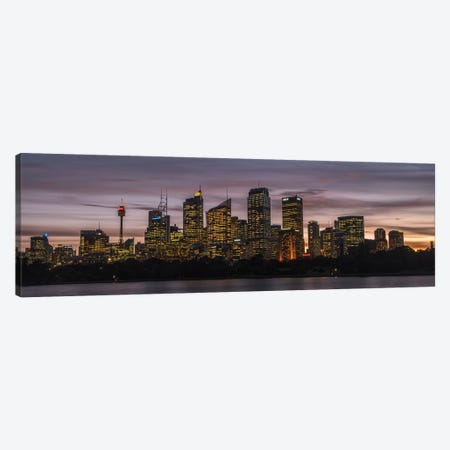 Sydney Skyline Canvas Print #DNY88} by Danny Head Canvas Print