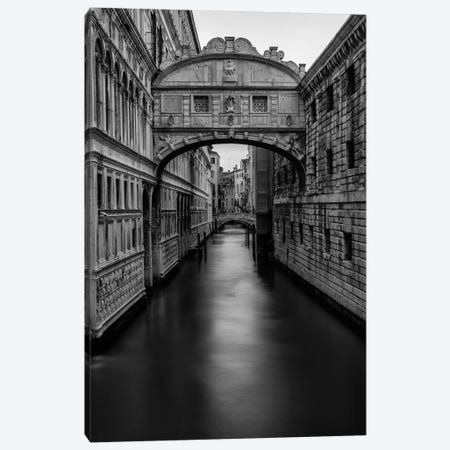 B&W Bridge of Sighs Canvas Print #DNY90} by Danny Head Canvas Wall Art