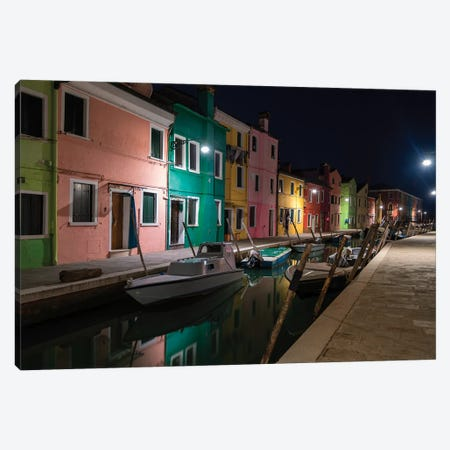 Burano Street Lights I Canvas Print #DNY95} by Danny Head Canvas Print