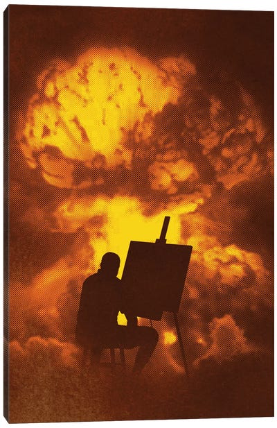 Disaster Piece Canvas Art Print