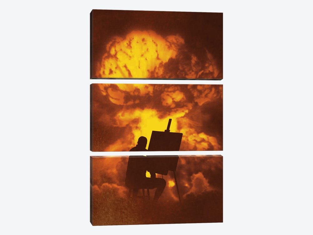 Disaster Piece by Rob Dobi 3-piece Canvas Art Print