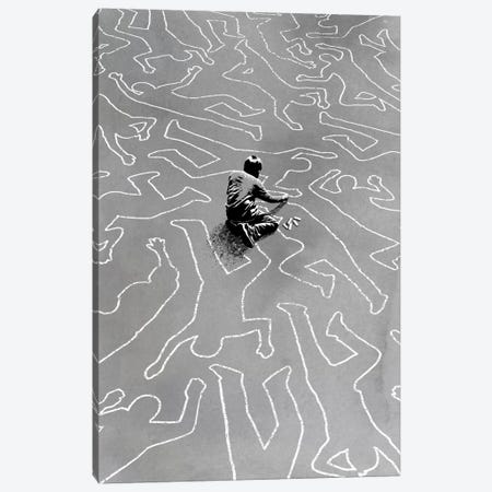 Draw The Line Canvas Print #DOB18} by Rob Dobi Canvas Artwork