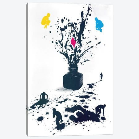 Inked Canvas Print #DOB27} by Rob Dobi Canvas Artwork