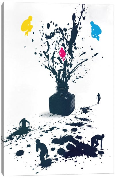 Inked Canvas Art Print