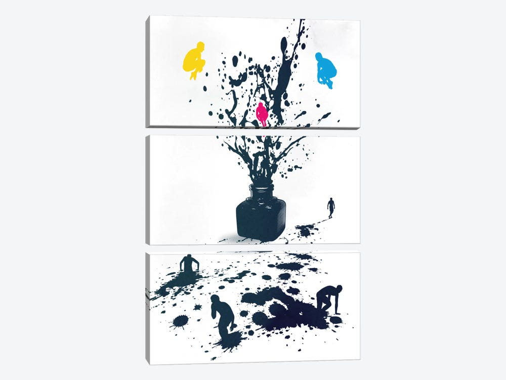 Inked 3-piece Canvas Art