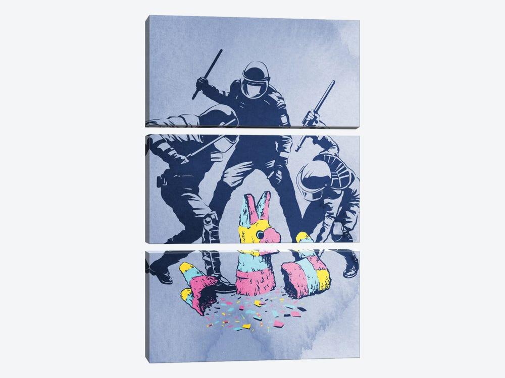 Party's Over by Rob Dobi 3-piece Canvas Art Print