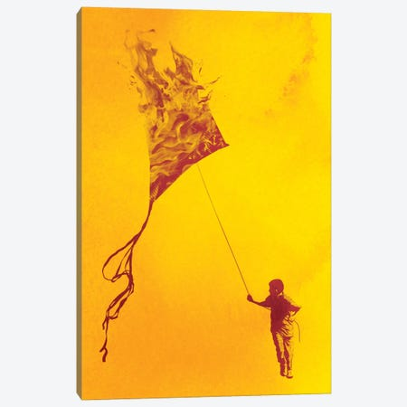 Playing With Fire Canvas Print #DOB40} by Rob Dobi Art Print