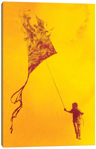 Playing With Fire Canvas Print #DOB40