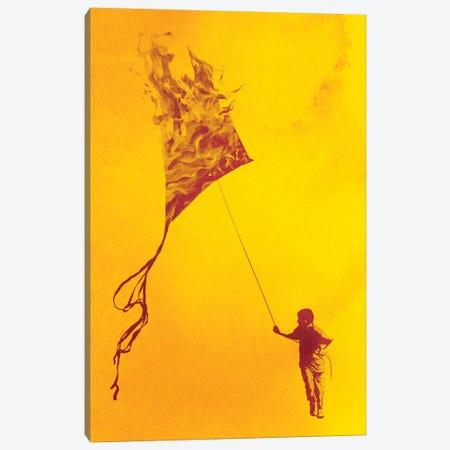 Playing With Fire Canvas Print #DOB40} by Rob Dobi Art Print