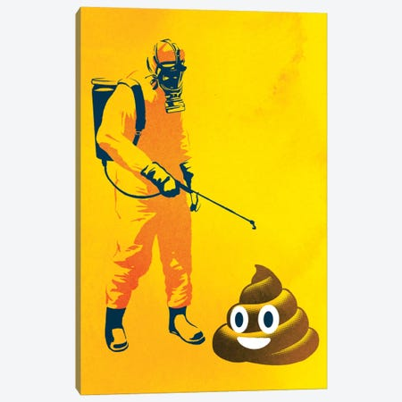 Poo Poo Canvas Print #DOB41} by Rob Dobi Canvas Art Print