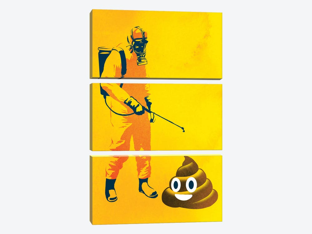 Poo Poo by Rob Dobi 3-piece Canvas Wall Art