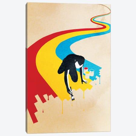 Rainbow Road Canvas Print #DOB42} by Rob Dobi Art Print