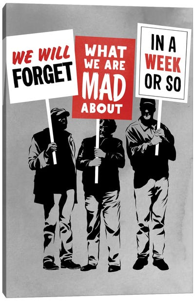 Semi-Protesting Canvas Art Print