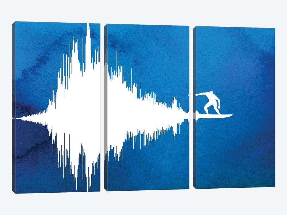 Soundwave by Rob Dobi 3-piece Canvas Art