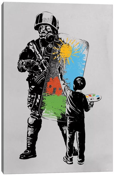 Turmoil Paint Canvas Print #DOB57