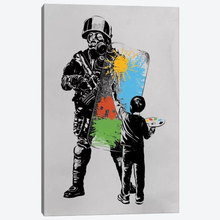 Turmoil Paint Canvas Print #DOB57} by Rob Dobi Canvas Print