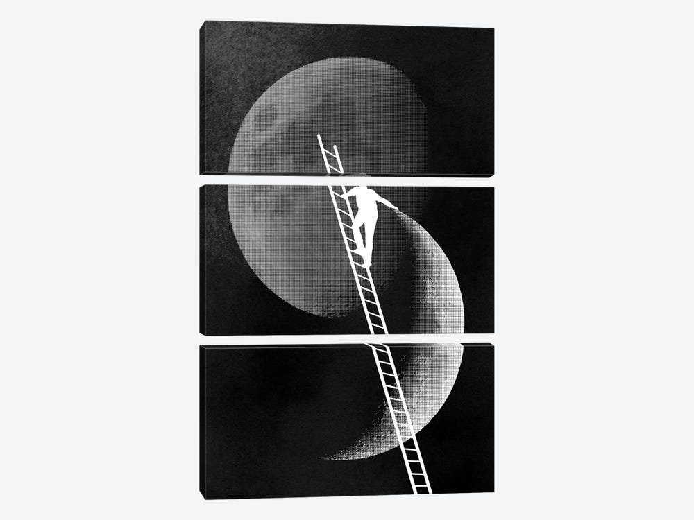 Light Side Of The Moon by Rob Dobi 3-piece Canvas Artwork