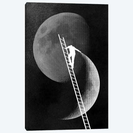 Light Side Of The Moon 3-Piece Canvas #DOB61} by Rob Dobi Canvas Print