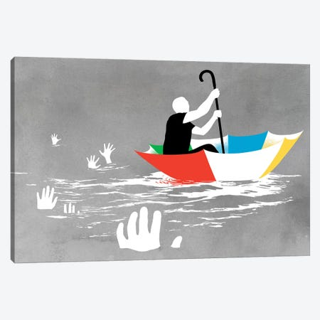 Staying Afloat Canvas Print #DOB65} by Rob Dobi Canvas Art