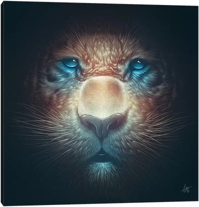 Red Tiger Canvas Art Print