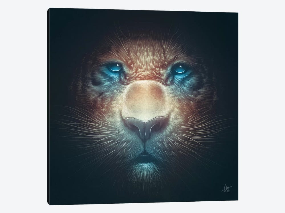 Red Tiger by Dr. Lukas Brezak 1-piece Canvas Wall Art