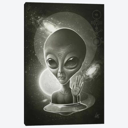 Alien II Canvas Print #DOC1} by Dr. Lukas Brezak Canvas Wall Art