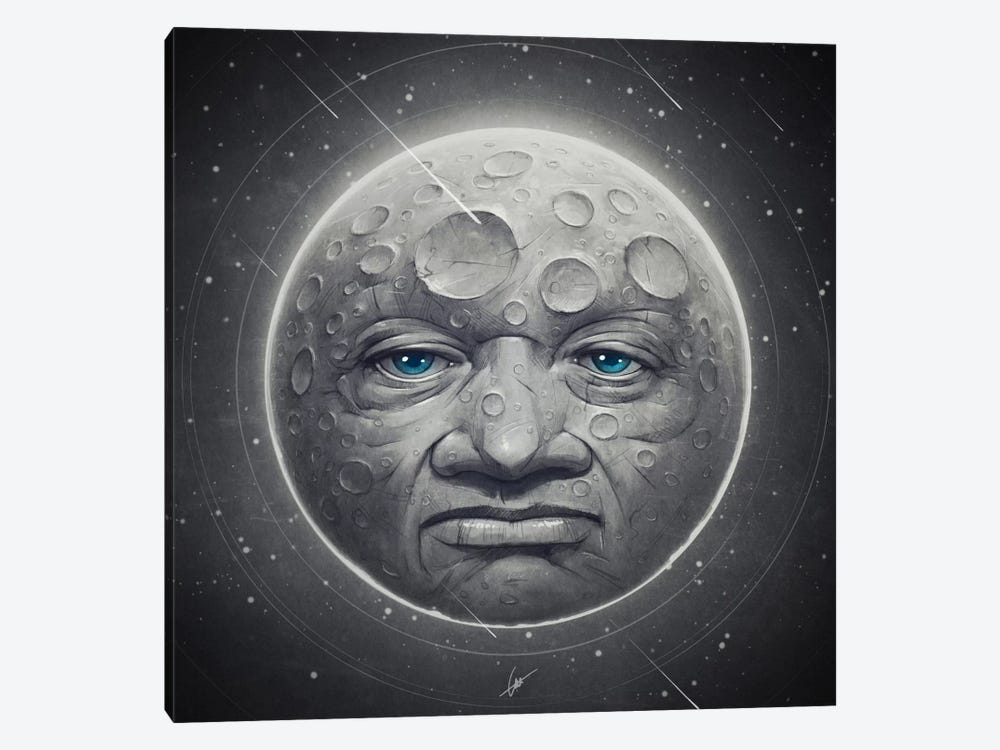 The Moon 1-piece Canvas Print
