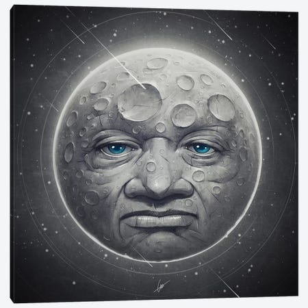 The Moon Canvas Print #DOC25} by Dr. Lukas Brezak Canvas Print