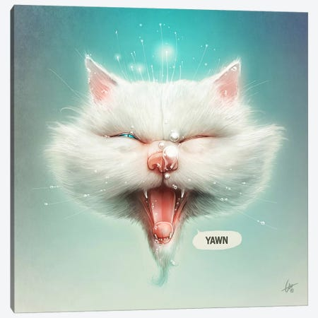 The Water Kitty Canvas Print #DOC28} by Dr. Lukas Brezak Canvas Wall Art