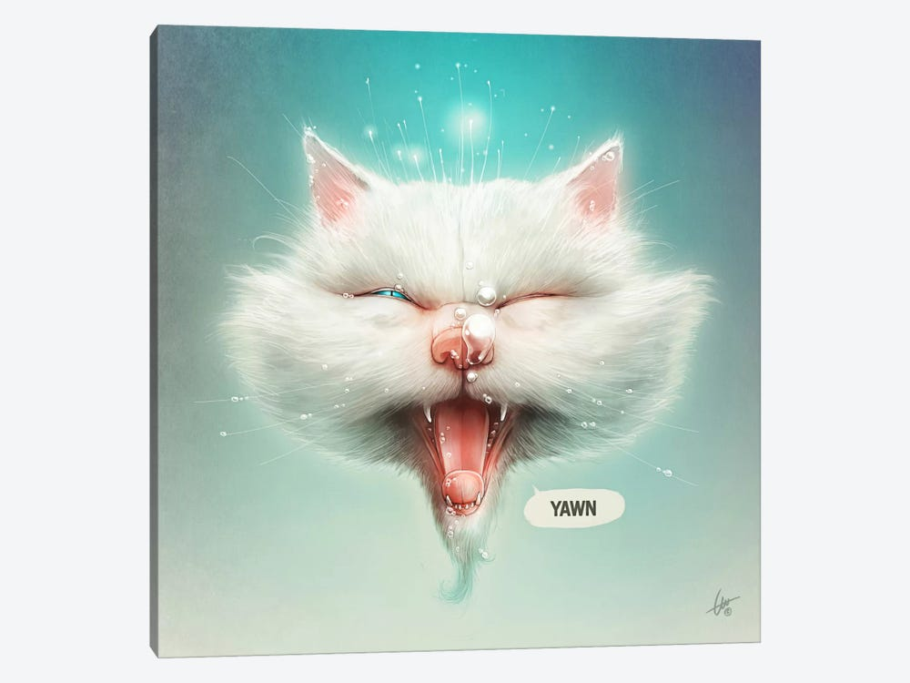 The Water Kitty by Dr. Lukas Brezak 1-piece Canvas Art