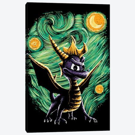 Starry Dragon Canvas Print #DOI101} by Denis Orio Ibañez Canvas Art Print