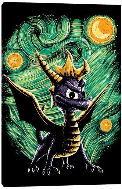 Starry Dragon Canvas Art Print