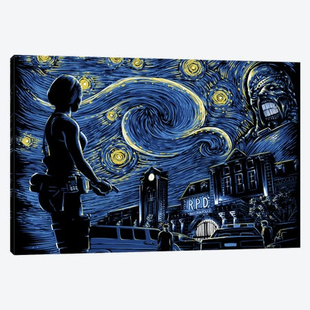 Starry Evil Canvas Print #DOI102} by Denis Orio Ibañez Canvas Art Print
