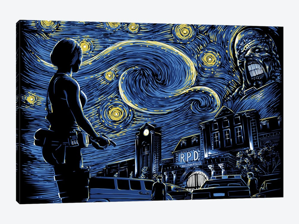 Starry Evil by Denis Orio Ibañez 1-piece Art Print