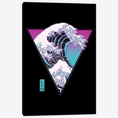The Great Synthwave Canvas Print #DOI109} by Denis Orio Ibañez Canvas Art Print