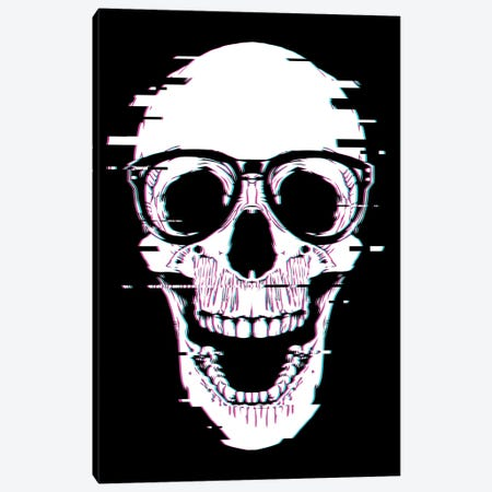 Back To Skull Canvas Print #DOI115} by Denis Orio Ibañez Canvas Print