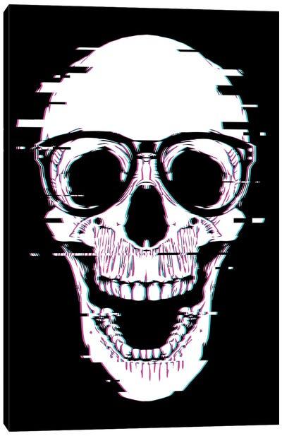 Back To Skull Canvas Art Print
