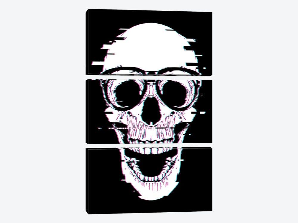 Back To Skull by Denis Orio Ibañez 3-piece Canvas Print