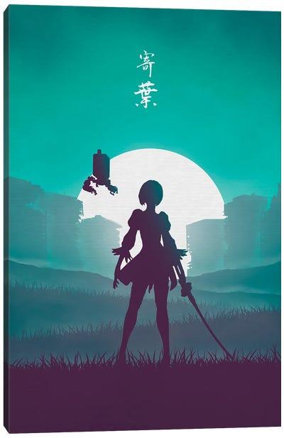 Battle Android Canvas Art Print
