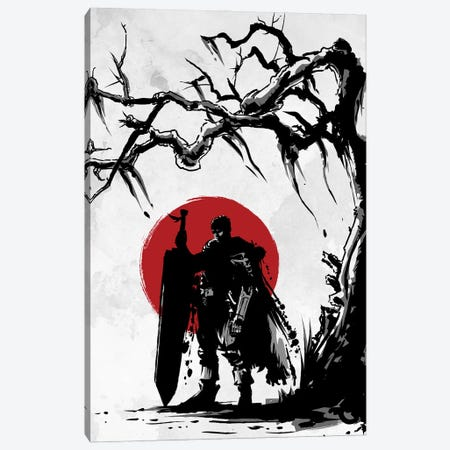 Black Swordsman Under The Sun Canvas Print #DOI120} by Denis Orio Ibañez Canvas Art Print