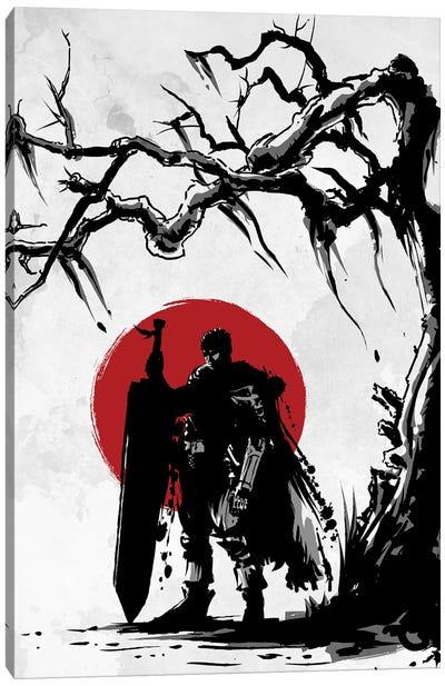 Black Swordsman Under The Sun Canvas Art Print