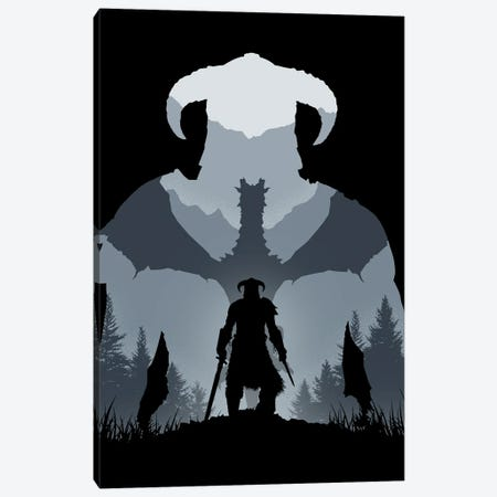 Dragonborn Canvas Print #DOI125} by Denis Orio Ibañez Canvas Artwork