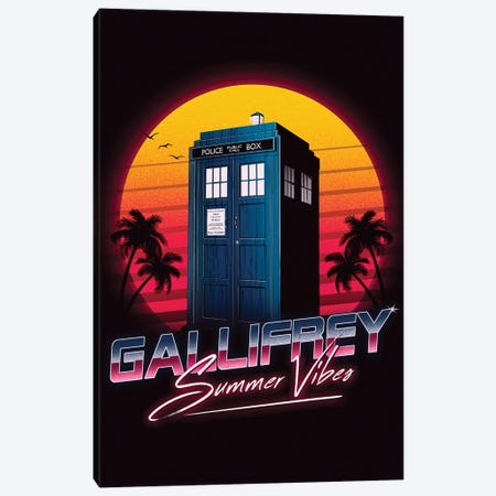 Gallifrey Summer Vibes Canvas Print #DOI132} by Denis Orio Ibañez Canvas Art