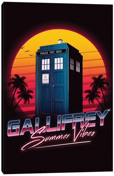 Gallifrey Summer Vibes Canvas Art Print