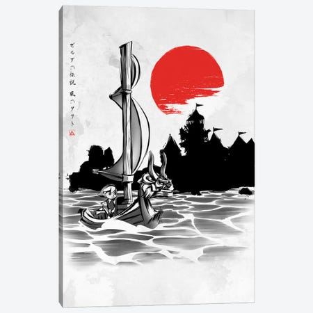Red Sun Hero Canvas Print #DOI144} by Denis Orio Ibañez Canvas Wall Art
