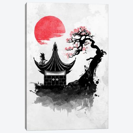 Red Sun Saiyan Canvas Print #DOI146} by Denis Orio Ibañez Canvas Wall Art