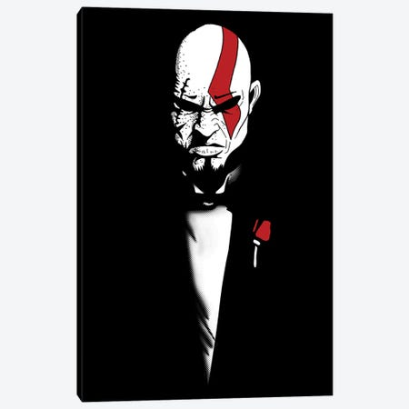The God Of War And Death Canvas Print #DOI149} by Denis Orio Ibañez Art Print