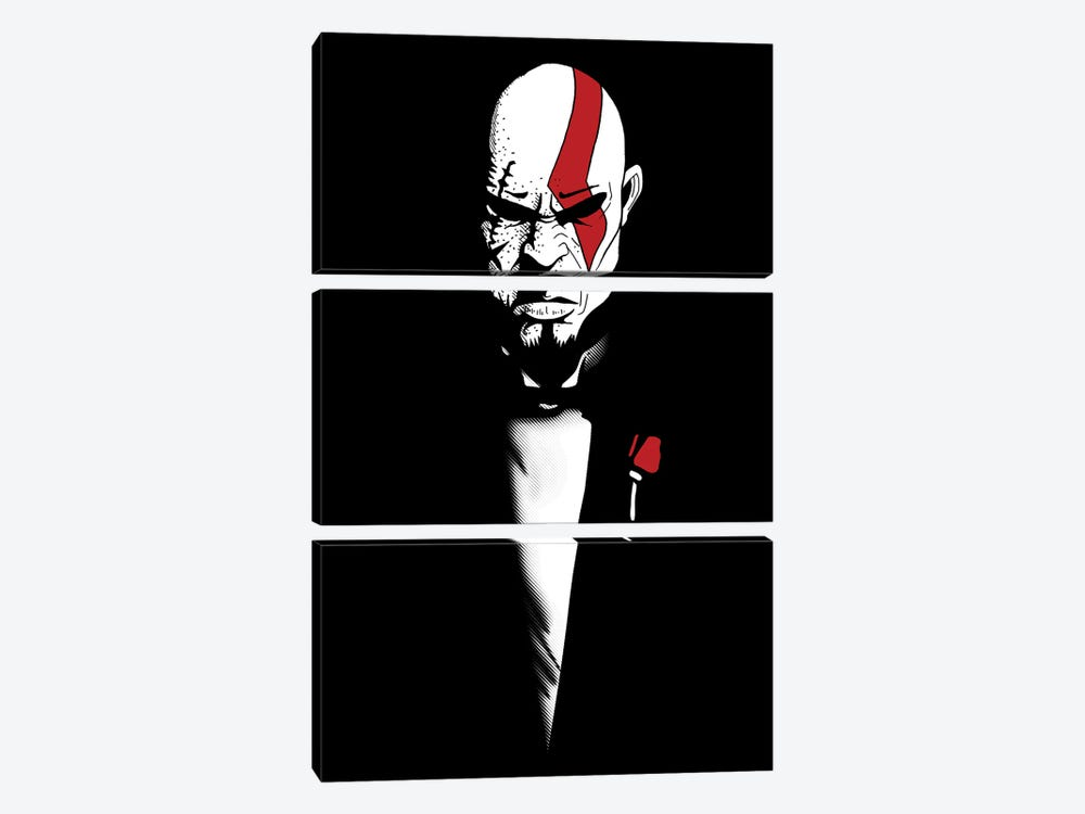 The God Of War And Death by Denis Orio Ibañez 3-piece Canvas Art