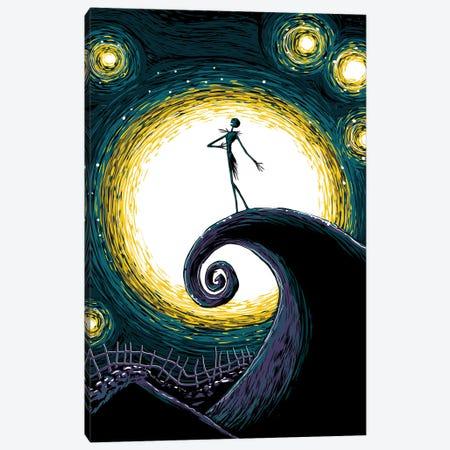 Starry Nightmare Canvas Print #DOI158} by Denis Orio Ibañez Canvas Art