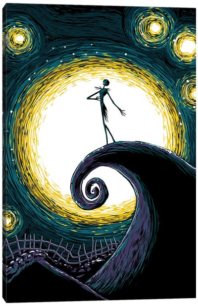 Starry Nightmare Canvas Art Print